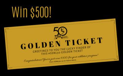Win $1000 with an SSNL Golden Ticket!