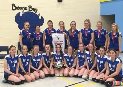 2015-16 A Girls Volleyball Qualifier Gold & Silver Bonne Bay & Viking Trail -min